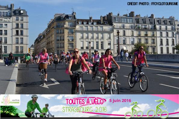 Toutes à vélo, premier événement vélo féminin d'Europe