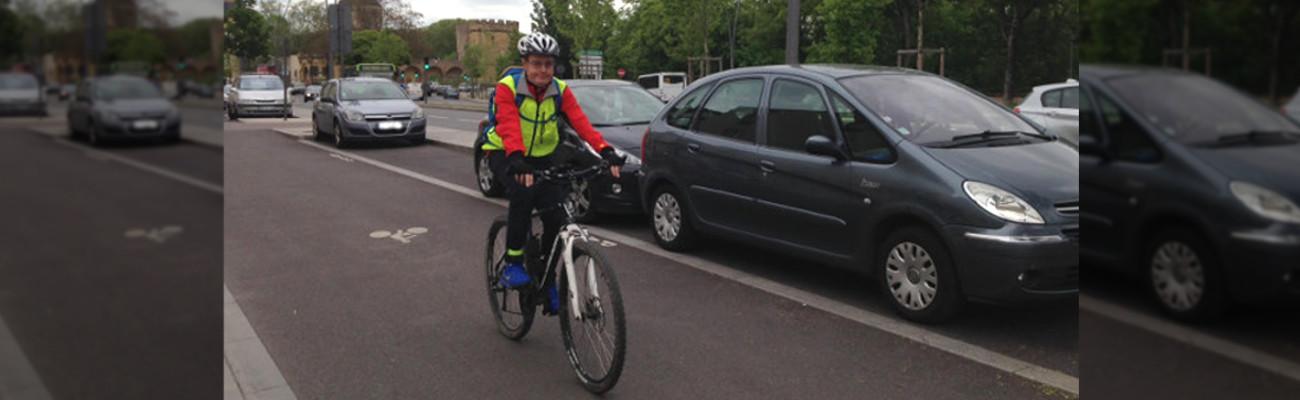Etienne de Metz participe au challenge «Au boulot à vélo»