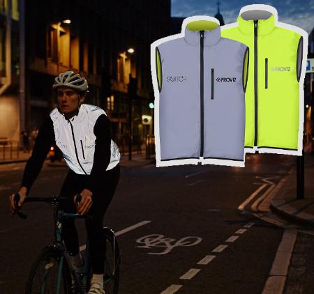 Veste très haute visibilité pour cycliste Proviz