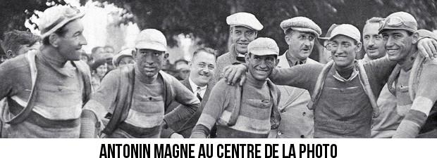 Antonin Magne, maillot jaune du tour de France de vélo