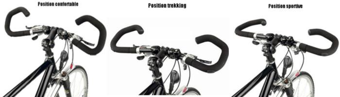 Positions réglables avec le guidon de vélo AHS Premium Humpert Ergotec