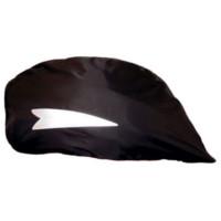 Housse de casque vélo contre la pluie Noire avec bandes reflex
