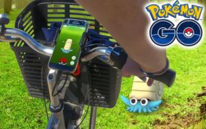 Jouer à pokémon go à vélo