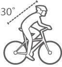 Position athlétique à vélo