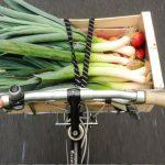 Faire du shopping à vélo
