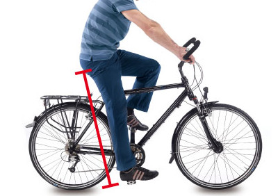 Réglage de la selle de vélo à la bonne hauteur