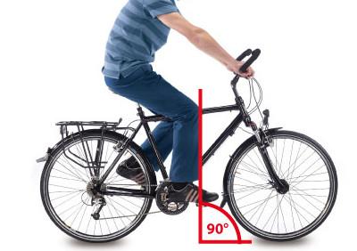 Réglage de selle de vélo - angle de pédalage