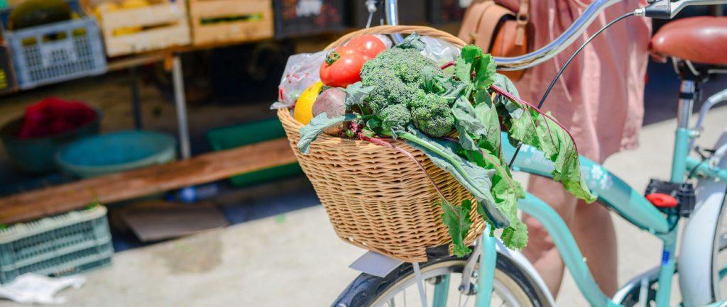 Panier pour faire ses courses à vélo