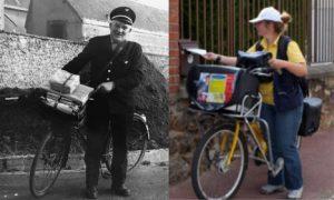 Les facteurs de La poste déjà à vélo en 1893