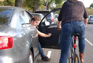 Cardooring : danger à vélo