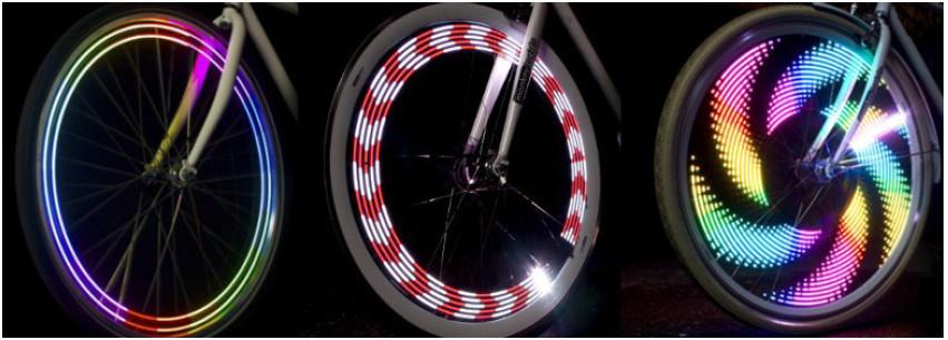 Feu vélo sur roue Monkeylight
