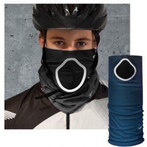 Foulard anti pollution et pollen pour cycliste
