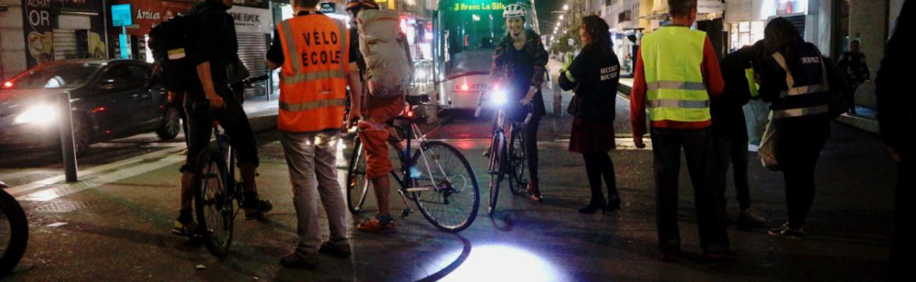 Cyclistes Brillez 2019 à Marseille avec le Collectif Vélos en Ville