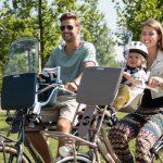 pare brise vélo pour protéger l'enfant à vélo