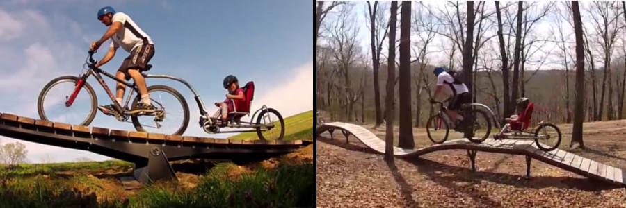 Remorque pour enfant à vélo Weehoo