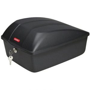 Top case Klickfix sur porte-bagages vélo