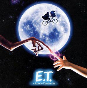 scènes cultes à vélo, ET l'extraterrestre