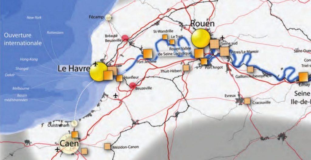 Carte de la prochaine vélo-route Seine - Havre