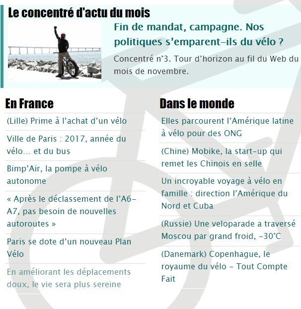 ActuVélo, portails d'informations autour du vélo