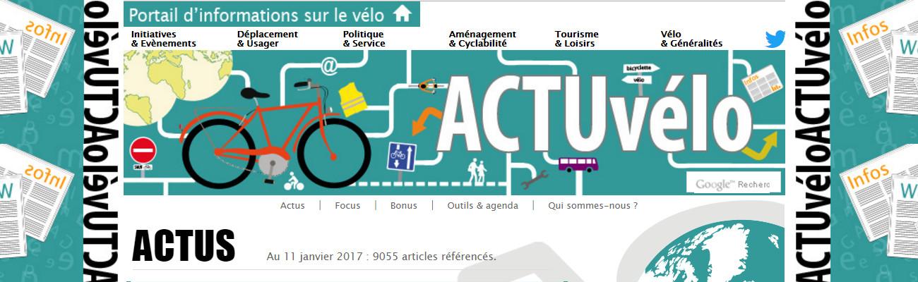 ActuVélo, un portail d'informations autour du vélo et de la mobilité