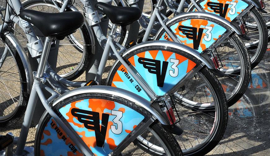 Vélos en libre service à Bordeaux