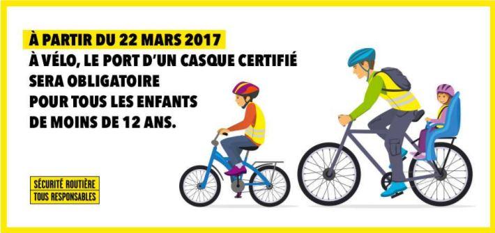 Casque vélo obligatoire pour les enfants