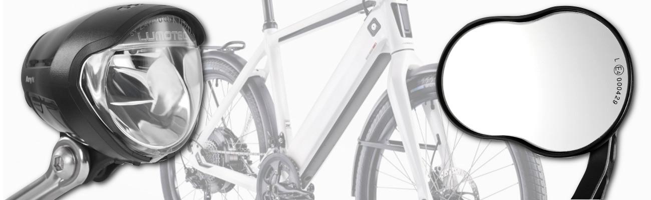 Sécurité optimale avec les feux et rétroviseurs pour vélo électrique (VAE)