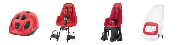 Les sièges vélo enfant Bobike One rouge