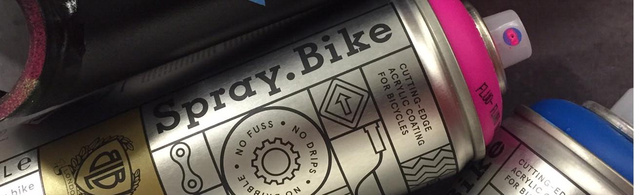Peindre un vélo en quelques minutes avec les peintures Spray Bike