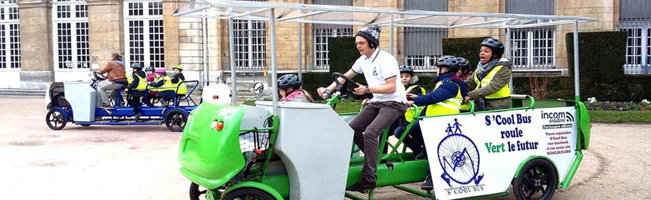 Le vélo-bus pour préparer les enfants à se rendre à l'école à vélo