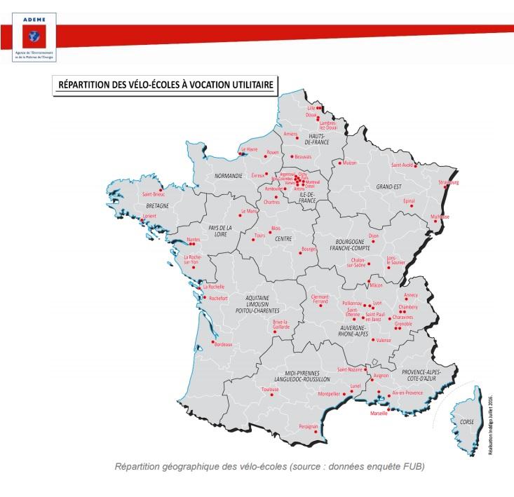 Apprendre le vélo partout en France grâce aux vélo-écoles