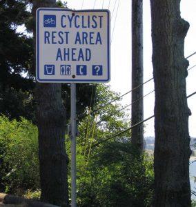 Espace de repos pour vélos
