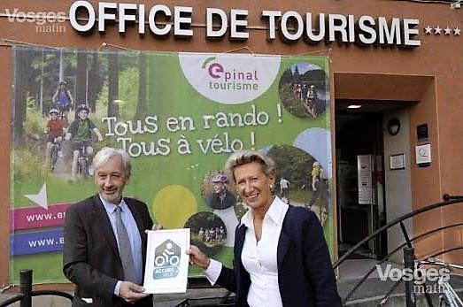 L'office de tourisme d'Épinal, labellisé Accueil Vélo
