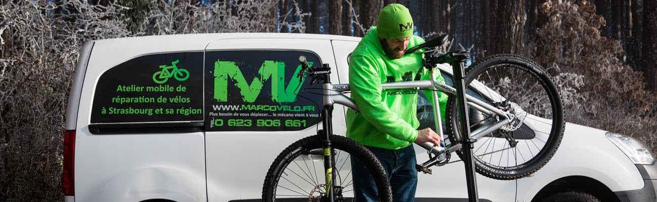 Marco'vélo, un atelier vélo mobile au service des cyclistes à Strasbourg