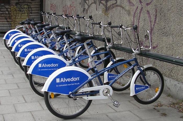 Les vélos en libre-service à Stockholm