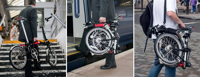 Off yer Bike, sangle pour transporter un vélo Brompton