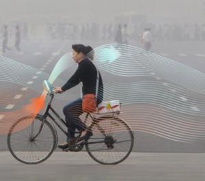 The Smog bicycle by Daan Roosegaarde