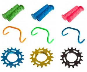 Des accessoires et pièces de vélo colorés BLB