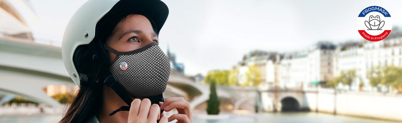 Frogmask : les masques pour se préserver de la pollution à vélo