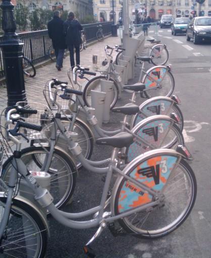 Les vélos en libre service de Bordeaux