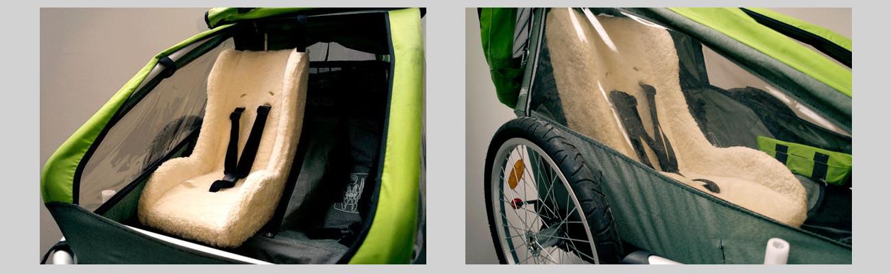 Les sièges vélo bébé Melia : confort et sécurité pour le transport en remorque ou cargo