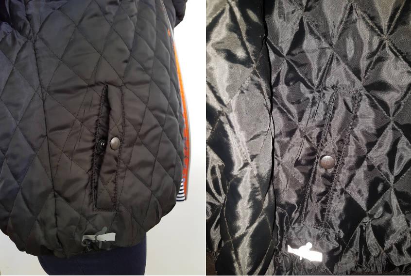 Côté sobre de la veste pour cycliste