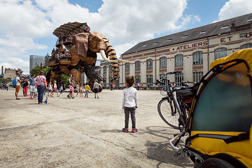 Nantes et son éléphant au ralenti