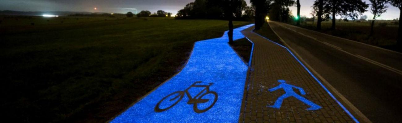 Belgique : la piste cyclable phosphorescente débarque