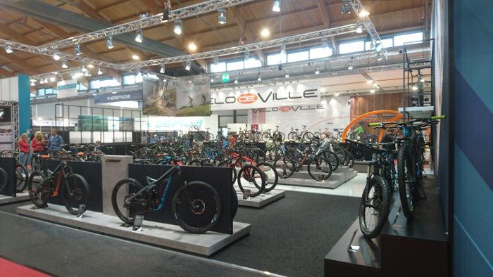 Stands de vélos à l'Eurobike