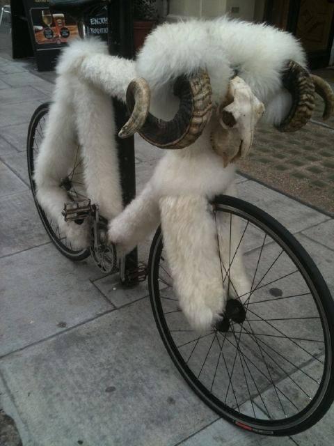 Vélos insolites : Un vélo velu