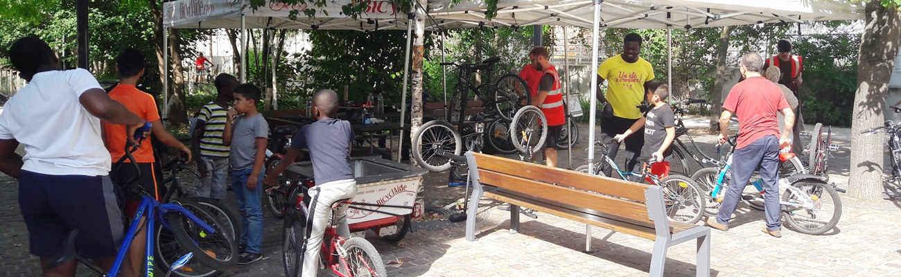 BicyclAide : l'atelier vélo à Gennevilliers qui mise sur le recyclage et le réemploi