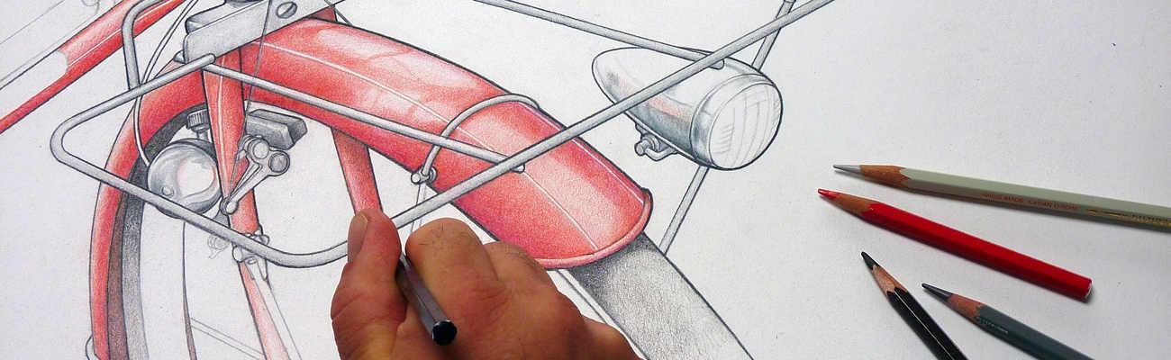 Sa Passion Il Dessine Des Velos Sur Le Crayon A Pedales