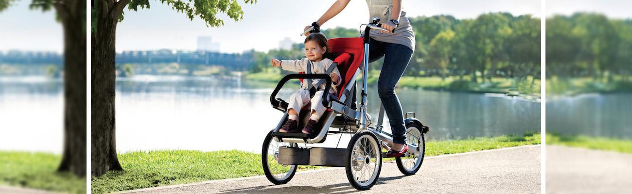 Des poussettes vélo innovantes et intelligentes