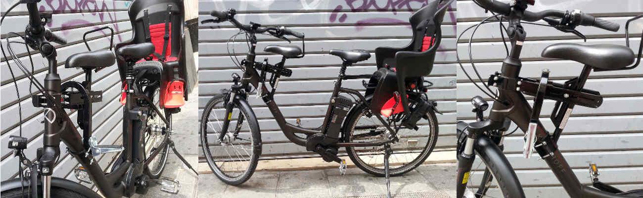 Selle junior sur cadre vélo, pratique pour déposer son enfant à l'école
